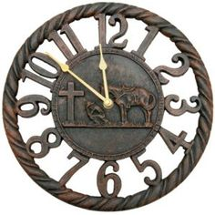M Western Products Cowboy Prayer Rustic Wall Clock.... I really really really want this