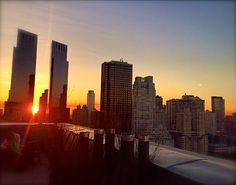 NYAC Solarium sunset.