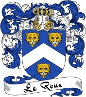 Roux Coat of Arms  Roux Family Crest   VIEW OUR FRENCH COAT OF ARMS / FRENCH FAMILY CREST PRODUCTS HERE