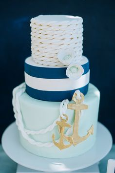 pastries.quenalbertini: Nautical Birthday Cake by Honeycomb Events - Cari Courtright Photo