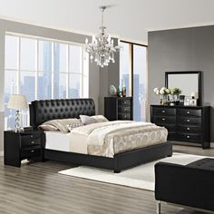 Francesca 5-piece Bedroom Set (it's really 4 pieces - the bed, a chest, a dresser and a mirror).
