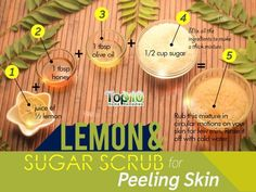 sugar scrub for peeling skin
