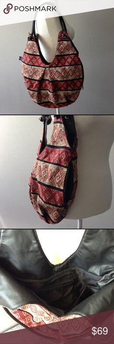"Tapestry handmade Ecuadorian shoulder handbag . New. NWT.  Shoulder large handbag. Handmade In Ecuador by Kenay artesanias.  100% Acrylic.  Length : 24"" ;  Width : 16"" ;  Depth 10"" .  Strap drop: 13"" .  Lining and interior pocket.  Outside pocket. Kenay artesanias Bags Shoulder Bags"