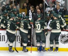 Apr 24, 2014; Saint Paul, MN, USA; Minnesota Wild head coach Mike Yeo during a time out in the third period against the Colorado Avalanche in game four of the first round of the 2014 Stanley Cup Playoffs at Xcel Energy Center. Mandatory Credit: Marilyn Indahl-USA TODAY Sports