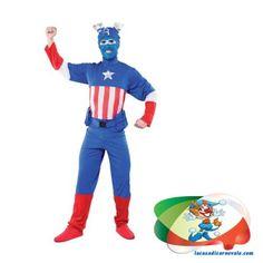 Costume Captain Azzurro. Taglia unica. Regolabile per la M e la L lacasadicarnevale.it Novita 2014 25.50€