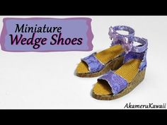 Miniature Wedge Shoes / Sandals - Polymer Clay Tutorial - YouTube