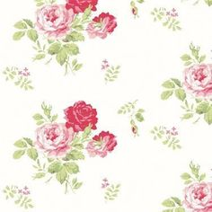 Cath Kidston - Antique Rose Bouquet Wallpaper Oh, the places I'd like to put this wallpaper! Cath Kidston Antique Rose Wallpaper, Shabby Chic Wallpaper, Cottage Wallpaper, Trendy Wallpaper, Shabby Chic Interiors, Shabby Chic Furniture, Shabby Chic Decor, Shabby Chic Tapete, Shabby Style