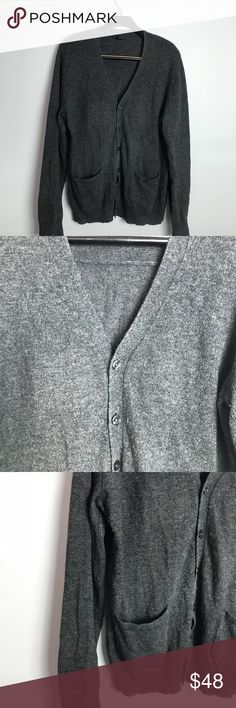 Club Monaco gray cardigan M GUC Good pre owned condition. Minor piling. Elbows are slightly faded . Smoke and pet free home. Bundle discount 20% Club Monaco Sweaters Cardigan