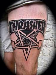 Resultado de imagem para skateboarder ffffound tattoo