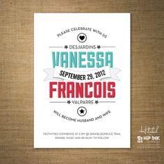 BANNER Modern Retro Typography Wedding por HipInkPaperCo en Etsy