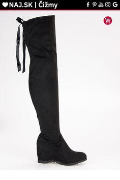 Čierne čižmy mušketierky Bestelle Knee Boots, Platform, Shoes, Fashion, Wedge, Zapatos, Moda, Shoes Outlet, La Mode