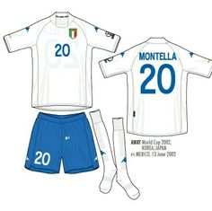 Italy away kit for the 2002 World Cup Finals.