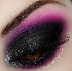 Black and purple heavy #smokey #eye #makeup