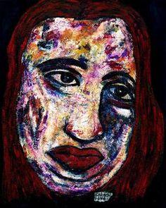 "Saatchi Art Artist CARMEN LUNA; Painting, ""51-RETRATOS Expresionistas.  Martes."" #art http://www.saatchiart.com/art-collection/Painting-Assemblage-Collage/Expressionist-Portrait/71968/51263/view"