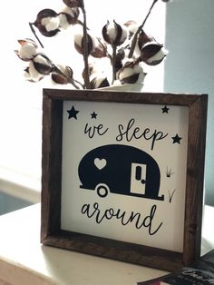 Love this small but witty decor option for your on the go home. Tiny Camper, Small Campers, Camper Life, Rv Campers, Camper Trailers, Travel Trailers, Travel Trailer Decor, Teardrop Campers, Rv Trailer