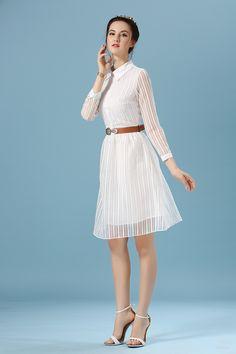 Summer White Dress Long Sleeve