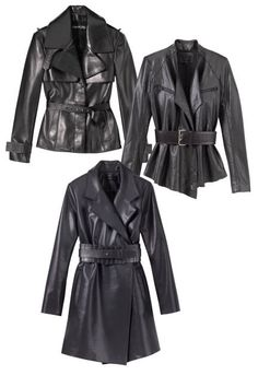 Oh yes! Love these leather belted jackets! Absolutely gorgeous! From Tom Ford, J. Mendel, Tibi, and Guess Thanks to @ELLE Magazine (US)