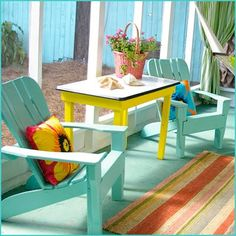 Love the colors in this Key West porch. Carolyn Horn's Style Key West: Not So Mellow Yellow