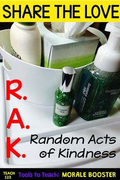 Here are some Random Act of Kindness ideas to use for the entire school staff!
