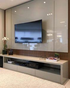 Painel TV laca e madeira