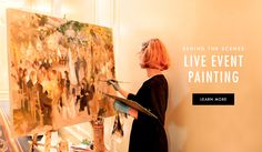 All About Live Event Painting | Photography: Michael Carr Photography. Read More: http://www.insideweddings.com/news/planning-design/what-is-live-event-painting-heres-everything-you-need-to-know/2502/