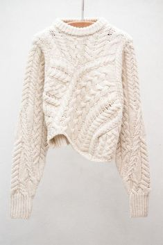 Versus Ecru Pullover by Isabel Marant Looks Style, Looks Cool, Style Me, Backstage Mode, Moda Crochet, Trends 2016, Look Fashion, Womens Fashion, Fall Fashion