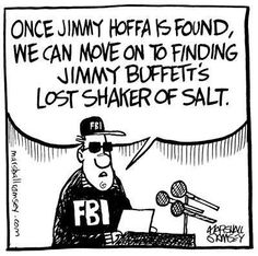 Funny Cartoon jimmy buffet lost shaker of salt Margarita vile tropical jimmy Hoffa