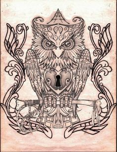 FANTÁSTICO MUNDO DA PRI : Tatuagem Coruja - Owl Tattoo