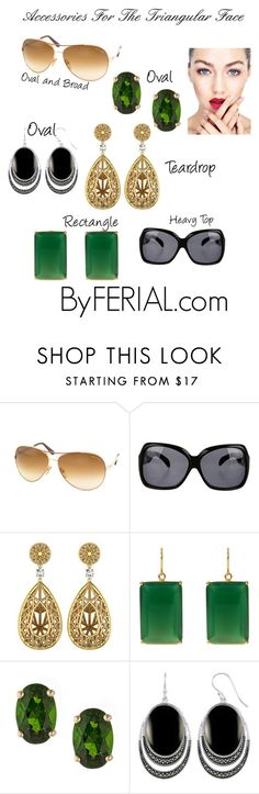 """Accessories For The Triangular Face"" by byferial on Polyvore featuring Tom Ford, Matthew Williamson, Margaret Elizabeth and Anika and August"