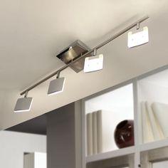 SKAPETZE -    Dornes Cube / LED-Deckenleuchte 4er Schiene / Chrom Innenleuchten Deckenleuchten