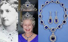 This Sapphire Tiara Is One Of Queen Elizabeth's Favorite She Wears It With The Necklace And Earrings From The Suite