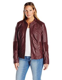 Junarose Womens Plus Size Ojetta Short Faux Leather Jacket Decadent Chocolate 0X *** Check out the image by visiting the link.
