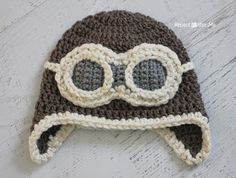 Repeat Crafter Me: Crochet Aviator Hat Free Pattern