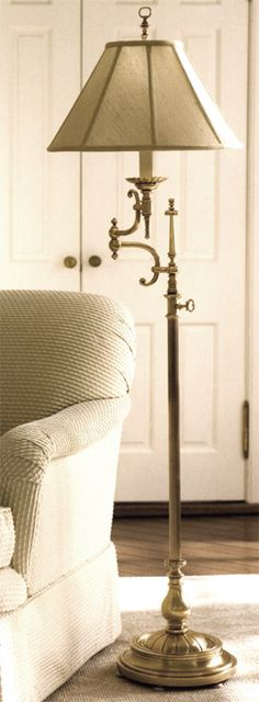 adjustable floor lamps - The combination of a swing arm and telescopic adjustable feature puts this floor lamp in the category of a very functional lighting fixtures
