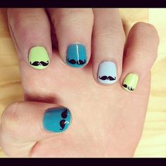 moustache nails definately doing this tonight!