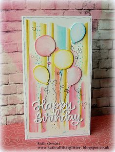 Kath's Blog......diary of the everyday life of a crafter: Happy Birthday Script/Altenew Take 3