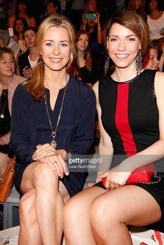 Bettina Cramer and Annett Moeller attend the Anja Gockel show during the Mercedes-Benz Fashion Week Berlin Spring/Summer 2016 at Brandenburg Gate on July 8, 2015 in Berlin, Germany.