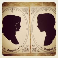 the two of us: silhouetts to get on our Disney honeymoon