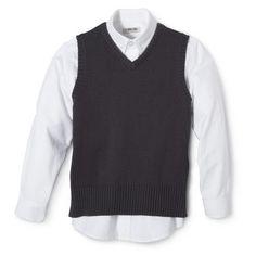 Cherokee® Boys' School Uniform Sweater Vest and Long-Sleeve Oxford Set Online Coupons, Boy Photos, School Uniform, Big Boys, Cherokee, What To Wear, Oxford, Vest, Long Sleeve