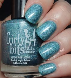 Girly Bits Get Weaponized Beautiful teal holo with purple and pink flecks www.girlybitscosmetics.com