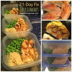 Need this in my life right now!  Easy Lunches - Clean Eating or 21-Day Fix