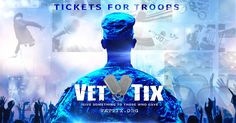 Veteran Tickets Foundation gives event tickets to Currently Serving Military, Veterans and their Families as well as immediate family of troops KIA