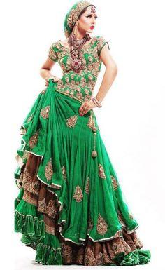 Embroidered Bridal Silk Lehenga Choli