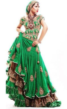 Embroidered Bridal Silk Lehenga Choli