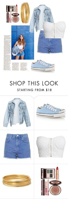 """Untitled #46"" by geniiie ❤ liked on Polyvore featuring Faustine Steinmetz, Converse, Topshop, NLY Trend, Bold Elements and Charlotte Tilbury"