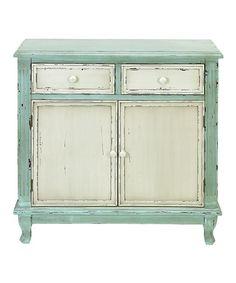 Loving this Mint Cabinet on #zulily! #zulilyfinds