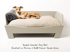 f86b85beeb09 Charley Chau Raised Wooden Dog Bed with bespoke paint finish - Farrow &  Ball '