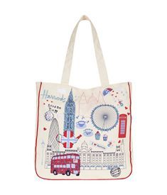 View the London Town Tote Bag
