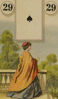 29  The Lady - The Lenormand Oracle by Marie Anne Adelaide Lenormand