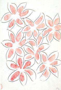 Flowers (study for Livre des Jacinthes, Amour d'Elisa di Elsa Triolet) by Henri Matisse
